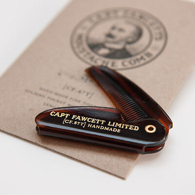 Captain Fawcett's Folding Pocket Moustache Comb (CF.87T)