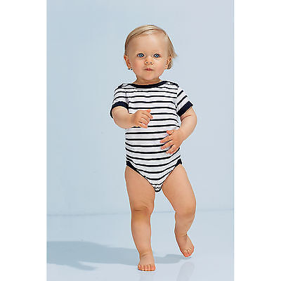 SOLS Baby Miles Stripe Short Sleeve Bodysuit Outfits Clothes Kids Summer Toddler