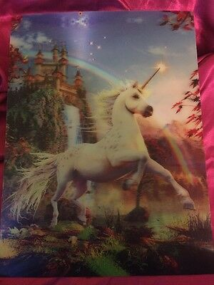 "3D Wall Art Unicorn Picture, Amazing Quality. Large 15.5"" X 11.5""  Eye Catching!"