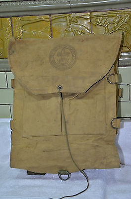 Vintage 40s-50s  BSA Boy Scouts of America  Pack Canvas Backpack (005)