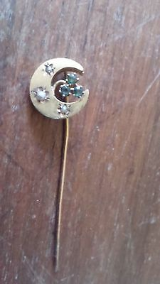 Ancien Bijoux Broche Epingle Cravate En Or