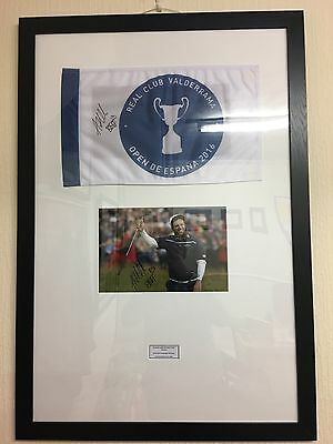 Signed Andrew 'Beef' Johnston Flag & Photo (framed with COA)
