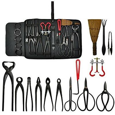Voilamart Bonsai Tools Kit 14 piece Carbon Steel Scissor Cutter Shear Wire with