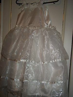 new PARTY or  /walking day white dress  size 5/6  year old / uk seler