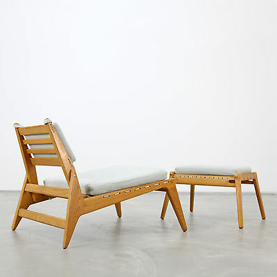 """Mid-Century Modern """"Hunting"""" - Lounge Chair and Ottoman 