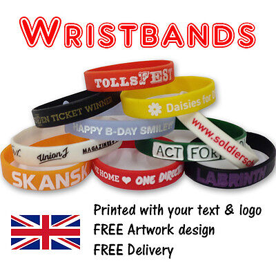 500  Custom print charity fundraising Silicone wristbands 32p each