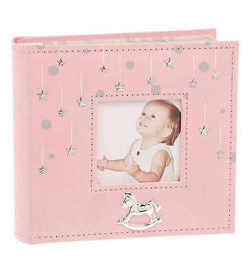 New - Little Stars Photo Album (Pink) Gifts For Baby Girls Naming Ceremony