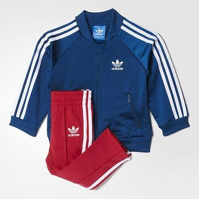 Infant/Junior Girls Adidas Adicolor Superstar Tracksuit Navy/Pink S95986