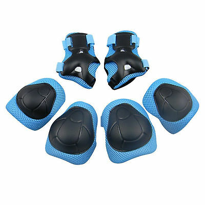 Protective Children Pad Set Safety Gear for Knee Elbow & Wrist Durable Blue