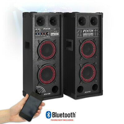 "Pair Active Dual 6.5"" Inch Party Speakers Karaoke USB DJ Plug & Play System 600W"