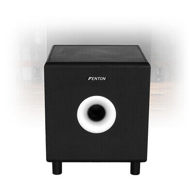 "10"" Inch Active Home Cinema Sub Hi-Fi Surround Subwoofer Bass Bin Speaker 200W"