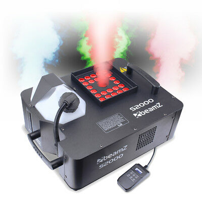 S2000 Vertical Smoke Machine RGB LED Colour Fog Blast Geyser Effect DMX 2000W