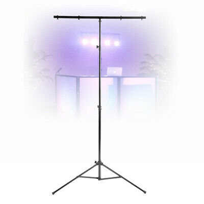 Beamz Light Weight T Bar 3 Section Lighting Stand Mobile DJ Party Tripod 25KG