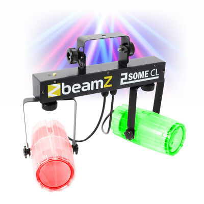 Beamz 2-Some Clear Twin LED Moonflower Effect DJ Light Rail Party Lighting Club