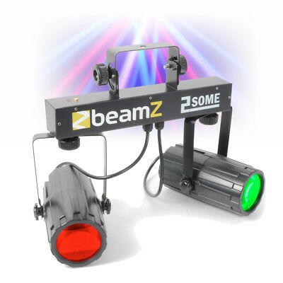 Beamz 2-Some Twin LED Moonflower Effect DJ Light Rail Party Lighting Club Bar