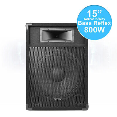 "Skytec CSB15 15"" Inch Active PA Speaker Portable Karaoke System Home DJ 800W"