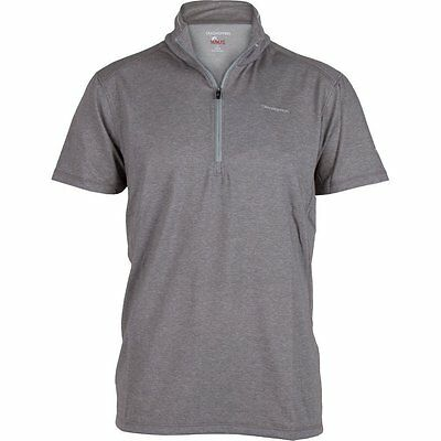 Craghoppers Mens Nosilife Short Sleeve Cortez Walking Hiking T-shirt Quarry Grey