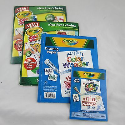 Crayola Color Wonder Drawing Paper 77 Blank Pages + Mini Tablet