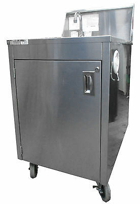Qualserv Portable Sink Self Contained Running Hot & Cold Water Part No. WMSC24MS