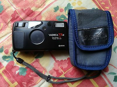 CAMERA Kyocera Yashica T5d T5 35mm Point & Shoot macchina fotografica vintage