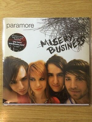 """Paramore Misery Business 7"""" Clear  Poster Bag Hayley Williams Vinyl Record Rare"""