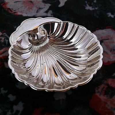 Vintage Birks Figural Sterling Silver Shell Bonbon Pin Ring Jewelry Tray Dish