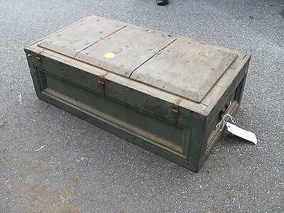 Antique Blue Wooden Trunk