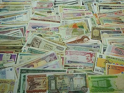 COLLECTION 580 DIFFERENT WORLD BANKNOTES FOREIGN PAPER MONEY LOT currency
