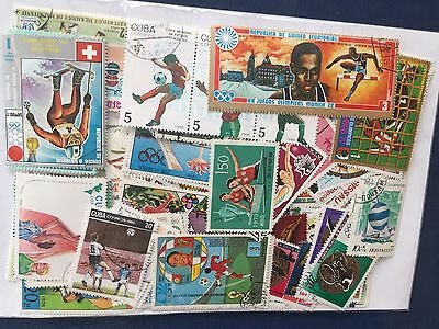 all different sports theme stamps assortment in retail pack approx 300 + stamps