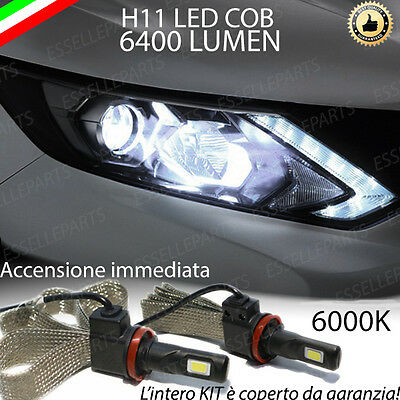 Kit Full Led Nissan Qashqai J11 Lampade Led H11 6000K 100% No Error 6400 Lm