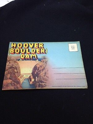 Vintage Souvenir Fold-Out Photo Packet of HOOVER (Boulder) DAM, 1950's, Unused
