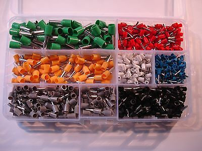 600Pcs Insulated Cord End Terminal Bootlace Ferrules Kit Terminal set