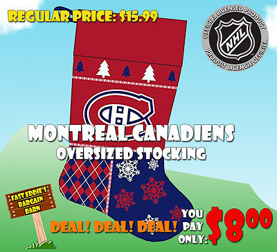 NHL Montreal Canadiens Oversized Holiday Stocking