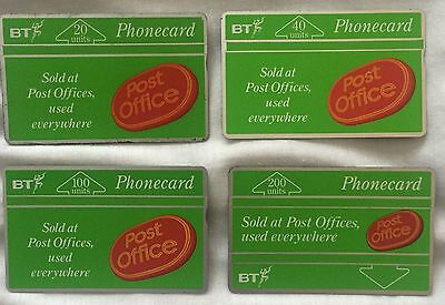 Collectable BT Phonecards Post Office Set Including 200 Units