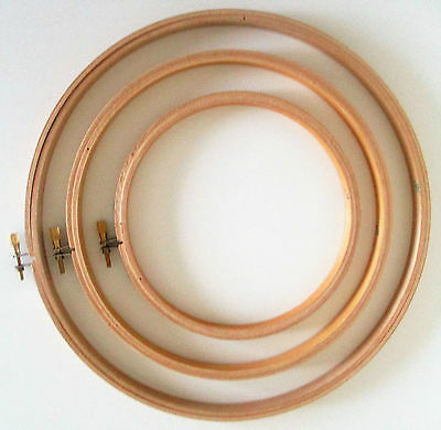 """Wooden Fram Cross Stitch/embroidery Hoop Ring  8"""" & 10""""  All Sewing/crafts"""