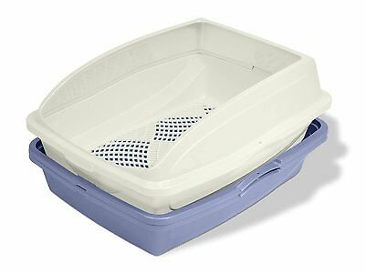 Sifting Cat Pan Litter Box With Frame Kitty Van Ness CP5 Easy Clean Odor Free