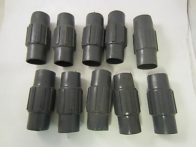 """Lot Of 10   Pvc Coated 1 1/2"""" Couplings  Robroy Ocal Permacote"""