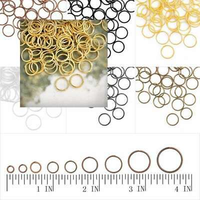 30g Open Round Jump Rings Connectors Craft Fit Jewellery Findings DIY 3-14mm
