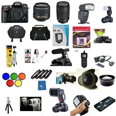 Nikon D5500 W 18-55mm VRII 70-300mm G PROFLASH 5 Years Warranty 60 Piece Pro KIT