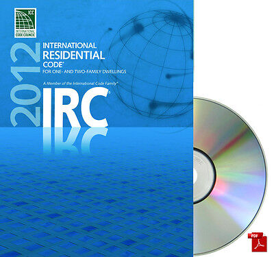 2012 International Residential Code (IRC) GENUINE CD-ROM with Code