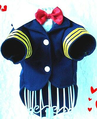 Navy Suit Uniform For Small Dogs