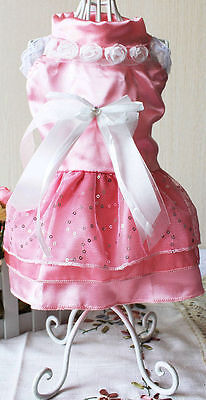 Cute Fancy Wedding Prom Dress For Dogs 3 Coiours