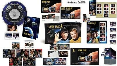 2016 Star Trek Lenticular Coin with Stamps Lot Of 9 -  50th. Anniversary