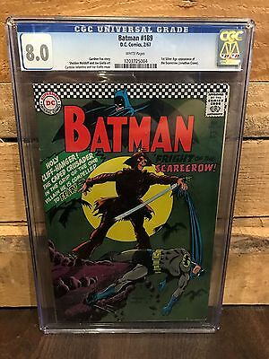 Batman #189 Cgc 8.0 Vf 1St Silver Age App Of The Scarecrow (Id 7610)