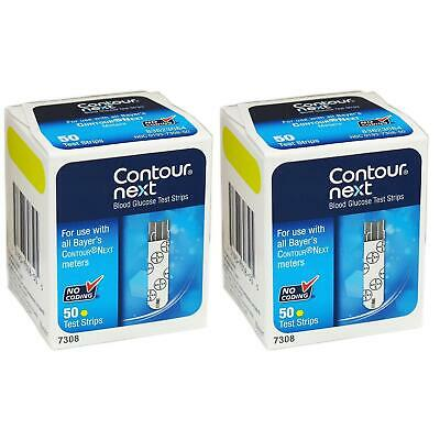 NEW Bayer Contour-Next Blood Glucose Meter Test Strips 100ct No-Coding 7308