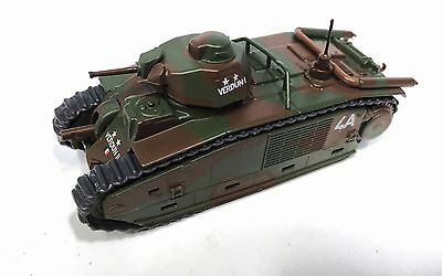 1/72 French Army Char B WW2 Tank Diecast Combat Vehicles of the World