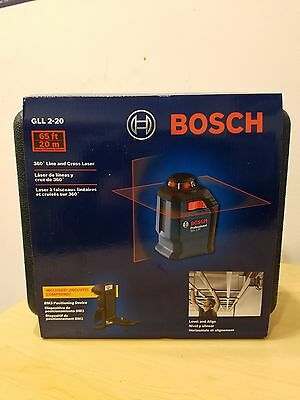 BOSCH GLL 2-20 65 Ft 20 M 360 Line Cross Laser Free Shipping!