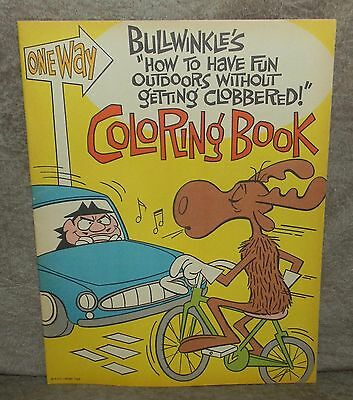 1963 Bullwinkles How To Fun Outdoors Without Getting Clobbered Coloring Book