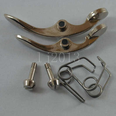 1 set =2 pcs trumpet water key/spit Valve for repairing nickel plated