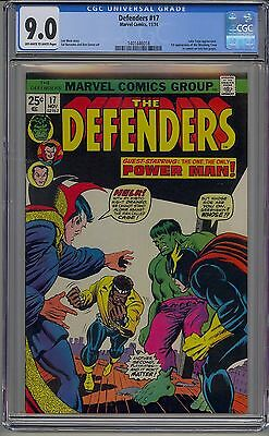 Defenders #17 Cgc 9.0 Off-White To White Pages 1St Wrecking Crew Luke Cage